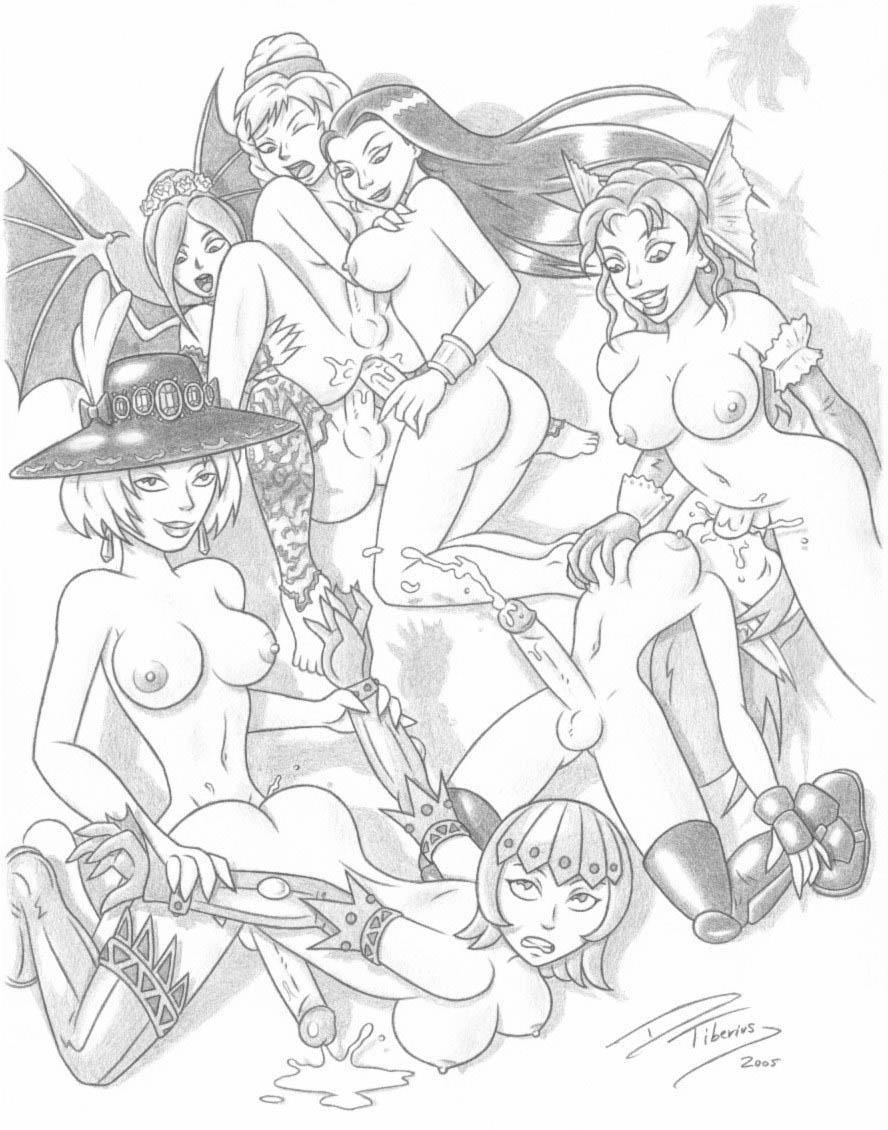 job throat gif blow deep Ookami san and her seven companions