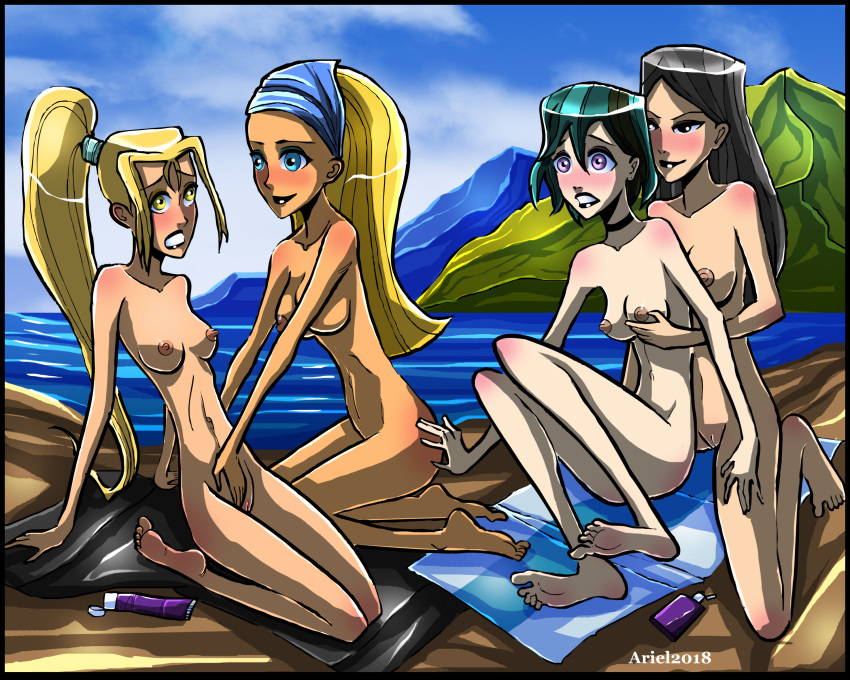 naked girls drama island from total Rubber tights breath of the wild