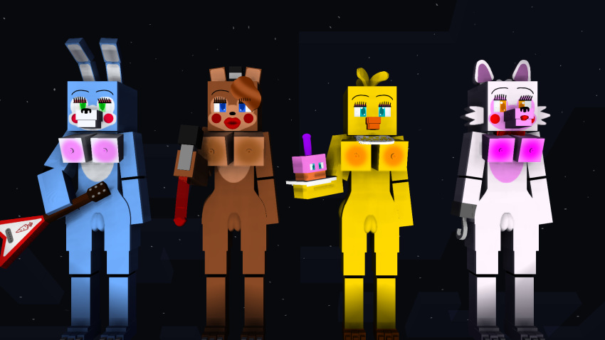 bonnie toy y chica toy Fist of the north star scars