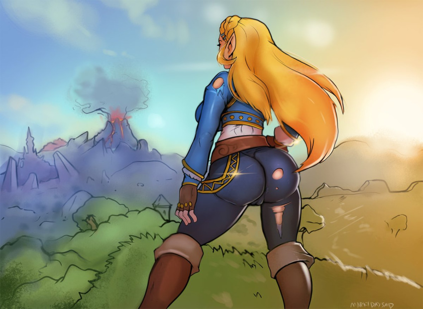 zelda the wild of breath princess butt Five nights at freddy in anime